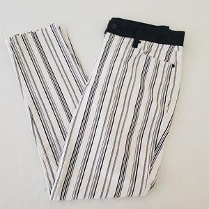 NYDJ Stripe Ankle Jeans